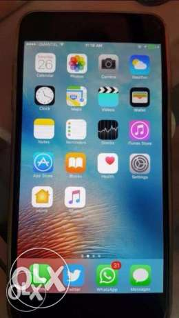 IPhone 6 Plus (64GB + Charger + Space Gray + Free Cover) ايفون 6 بلس مسقط -  1
