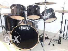 Drums full set + chair + 8 sticks