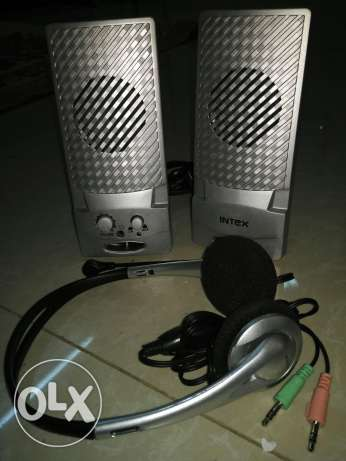 Speakers and headset