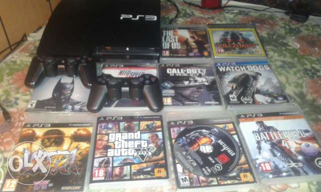 ps3 slim + 40omr exchange to ps4 or for sale