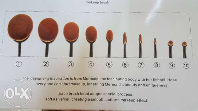 10 pieces make up brush set مسقط -  3