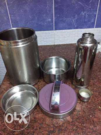 Stainless steel tiffin box set with water bottle