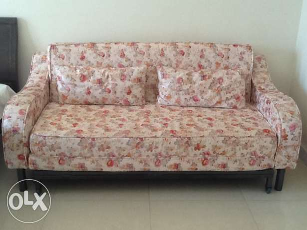 Sofa cum bed with 2 cousions in perfect condition for immediate sale
