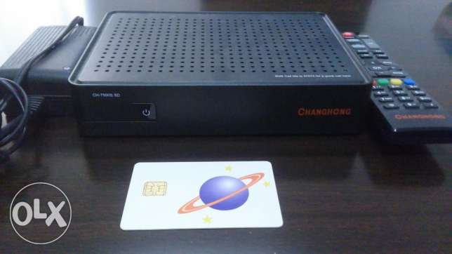 DISH TV Receiver, Remote, SIM (Oman Charge) and DISH مسقط -  1