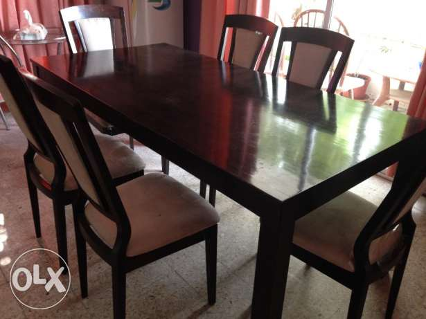 Dining table with 6 chairs القرم -  3
