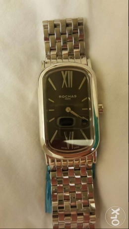 ROCHAS Brand New, Swiss Made, Stainless Steel Men's Watch