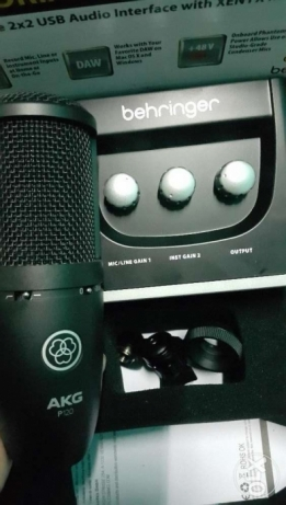 For Sale Akg P120 + Beringher UM2 audio interface with Se Pop filter