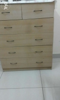 wooden chest draw 5 draws
