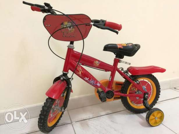 Kids Bicycle with side wheels مسقط -  1