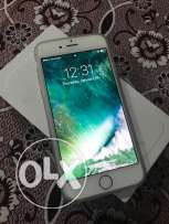 iPhone 6 silver white with all accessories excellent condition