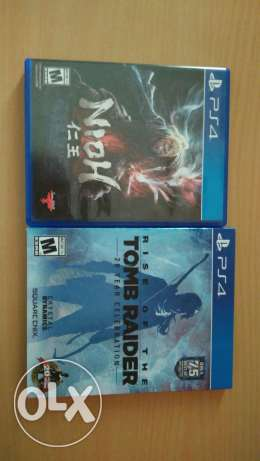 Nioh and tomb rider