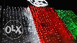 Lightning decoration available specially for national day