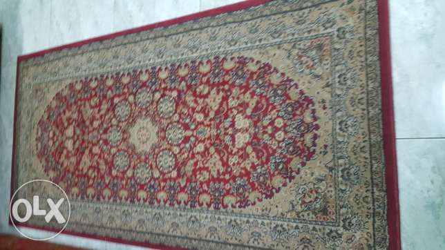 Red medium sized carpet