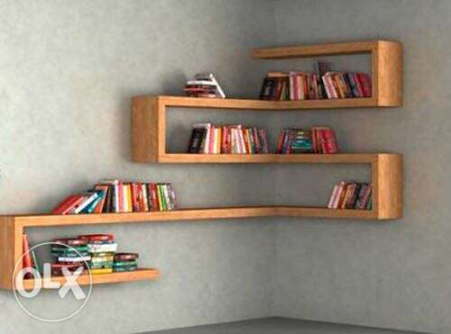 modern books shelves
