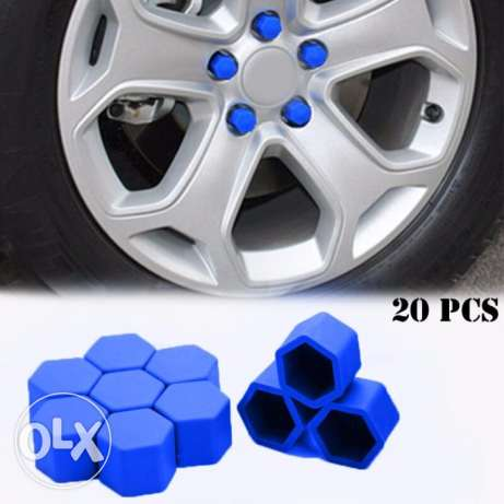 20pcs Silicone Car Wheel Nuts Covers مسقط -  1