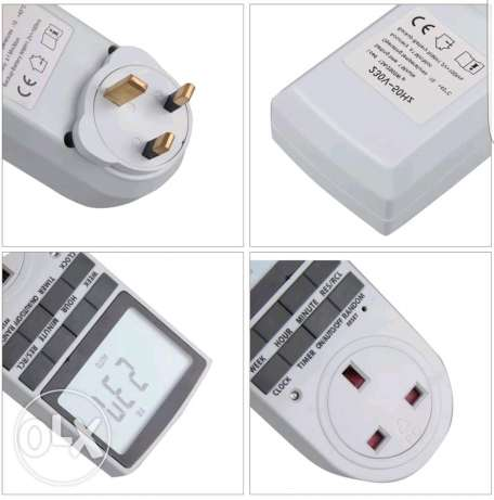 LCD Digital Power Programmable Timer Socket Switch 230V AC LCD Display السيب -  3