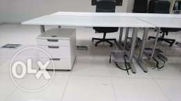 Chair, Drawers, lamps and letter trays for office