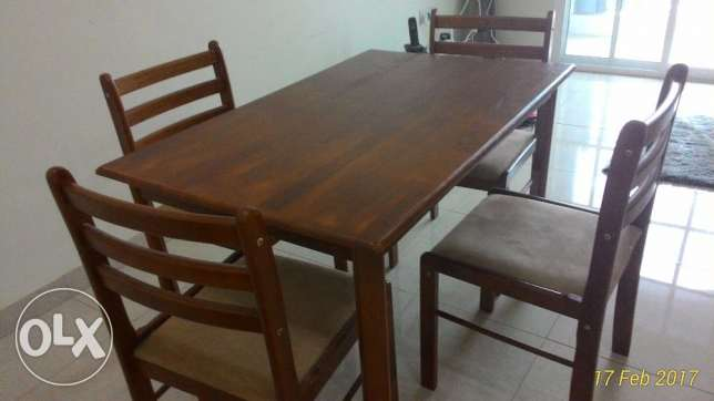 Four Seats Dinning Table and a Small Rag مسقط -  1
