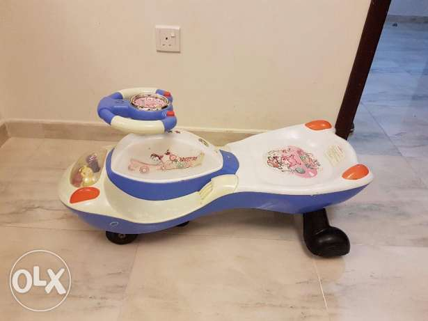 Kids gravity car (very strong & in good condition) reduced to 5 omr