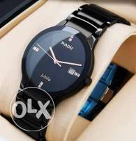 rado watches- 1st copy- pure black - for gents