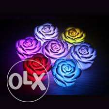 led colour changing ROSES- offer- 6 pieces