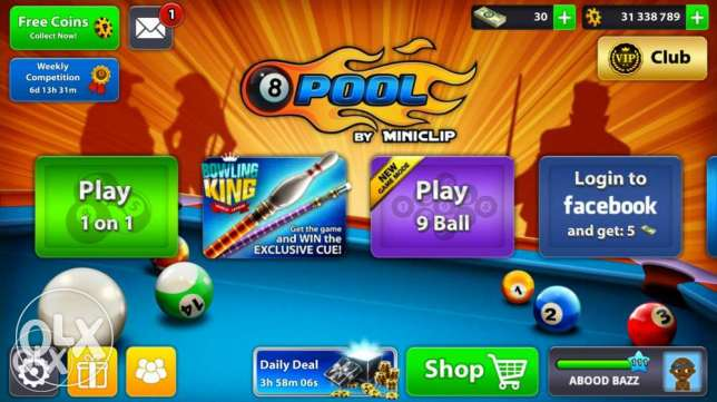 Miniclip id / 8ball pool .. level 111