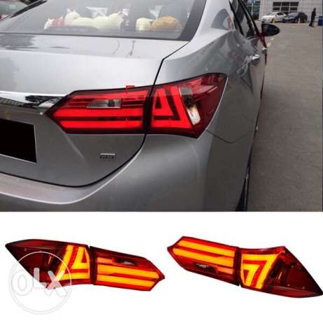 corolla tail lights 2014,15,16 كرستال ليتات كرولا السيب -  1