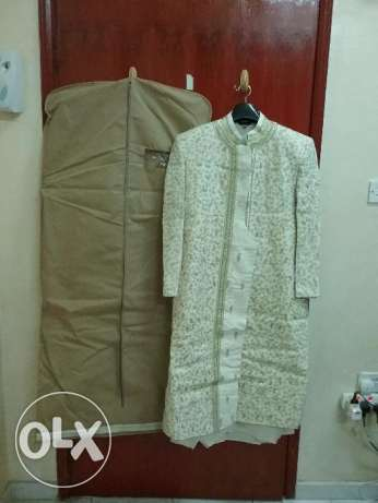 Sherwani with Kurta & Pajama ( Size 40 ) along with 2 blazers(Size 40) الغبرة الشمالية -  4