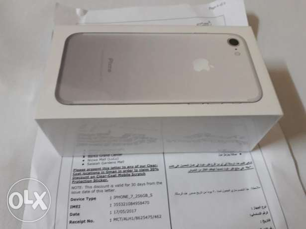 New iphone 7 256gb Sealed purchase from omantel 1 year warranty