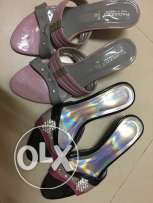 2Pairs of used sandals for ladies