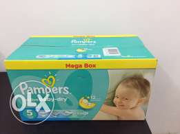 new Pampers mega box... Size 5.. collect from Mawaleh South