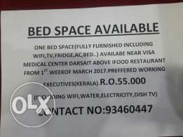 one bed space available