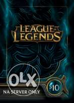 Selling RP for league of Legends بيع آر بي لي ليج اوف ليجيند