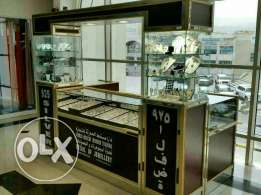 Silver jewellery counter along with silver items for sale
