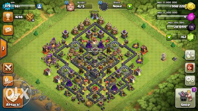 Clash of clan th 9 max for sell الحيل الجنوبية -  2