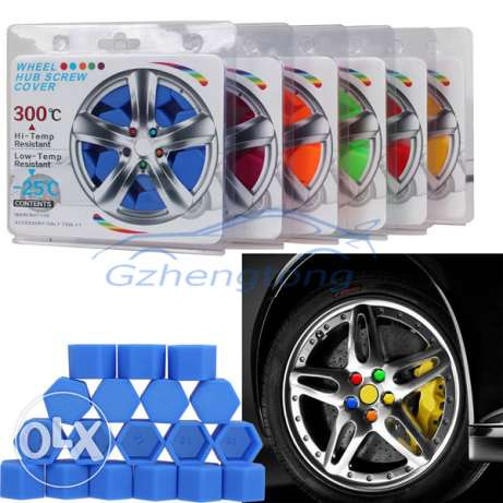 20pcs Silicone Car Wheel Nuts Covers مسقط -  3