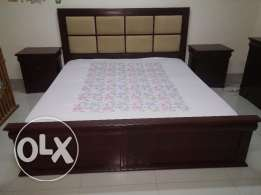 King Size Bed +2 Side Tables +Dressing Table with mirror +Stool