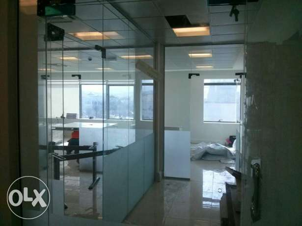 Glass work Glass Front Doors, Office Partitions, Office, Shop Decor مسقط -  3