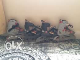k2 skating shoes excellent condition with full safety