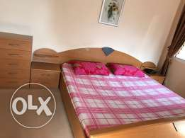 King size bed set and 3 side tables