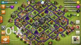بيع لعبة كلاش اوف كلانز. clash of clans village