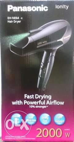 Panasonic Hair dryer - EH-NE64 Black Color- 2000W - NEW Unit.