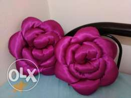 Pair of new rose flower pillow for sale