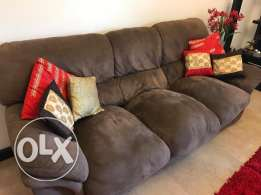 6 Seater Sofa Set COCO SUEDE