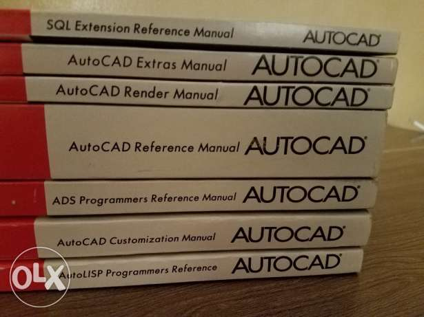 Autocad - All user manuals - 7 books
