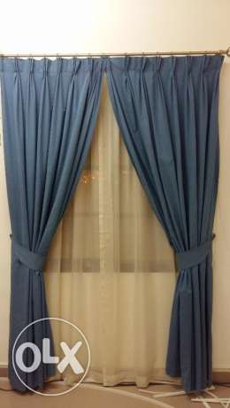 Almost New Curtains with Lining & Net Curtains مسقط -  2