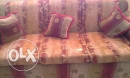 SOFA SET 5 SEATER (3+1+1) with cushions and covers