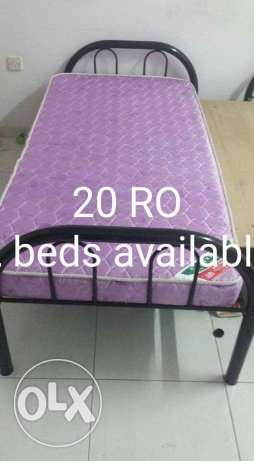 Single bed with matress السيب -  1