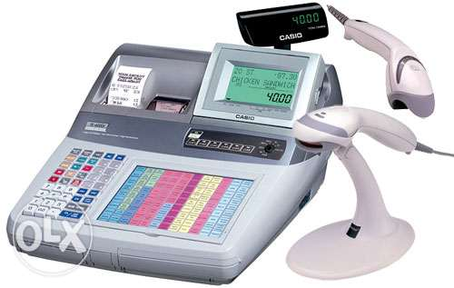 Casio Cash Register With Barcode Scanner.