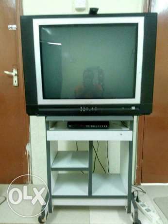 Tv with reciver and with tv stand